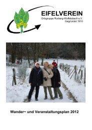Version des Wanderplans 2012 zum Herunterladen - Eifelverein