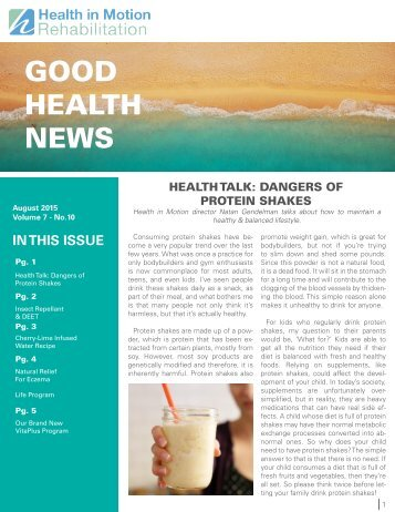 Good Health News - August 2015