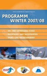 programm winter 2007/08 programm winter 2007/08 - SC-Burgau