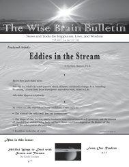 The Wise Brain Bulletin