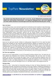 Newsletter vom 23.4.2012 - Top-Platz