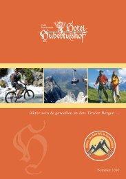 Aktiv sein & genießen in den Tiroler Bergen ... - Hotel Hubertushof