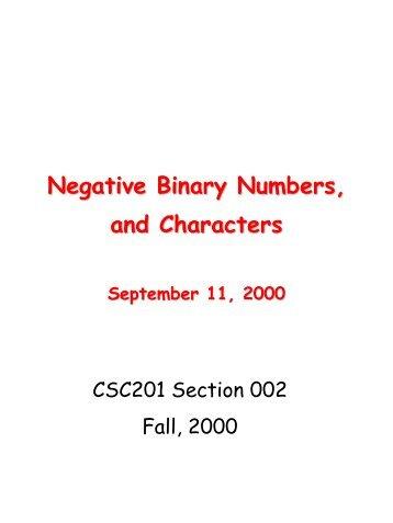 Unsigned Binary
