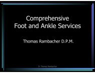 Comprehensive Foot and Ankle Services