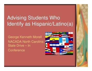 Identify as Hispanic/Latino(a)