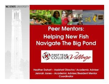 Peer Mentors Helping New Fish Navigate The Big Pond