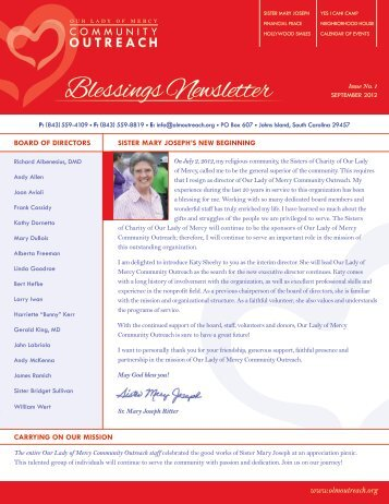 Blessings Newsletter