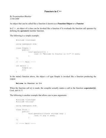 Functors in C++