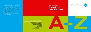 Lexikon für Kinder, Leseprobe - Kantonsspital Aarau