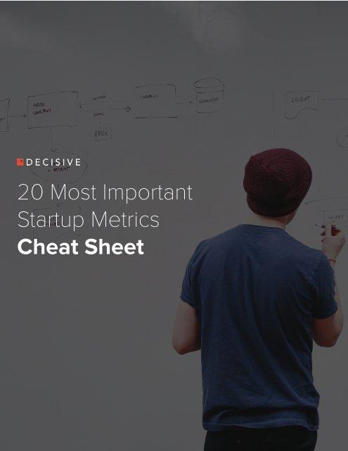 20 Most Important Startup Metrics Cheat Sheet