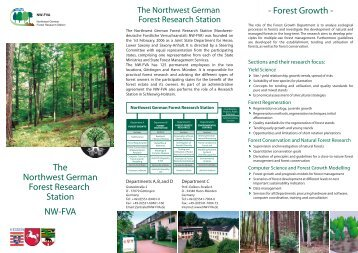 The Northwest German Forest Research Station NW-FVA - Forest Growth -