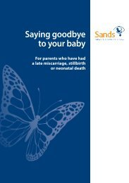 Saying goodbye to your baby