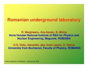 Romanian underground laboratory