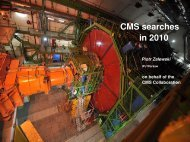CMS detector CMS searches in 2010