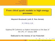 From chiral quark models to high-energy processes