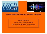 Studies of hadronic B decays with early LHCb data Rudolf Oldeman ...