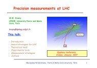 Precision measurements at LHC