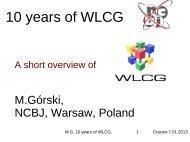 10 years of WLCG