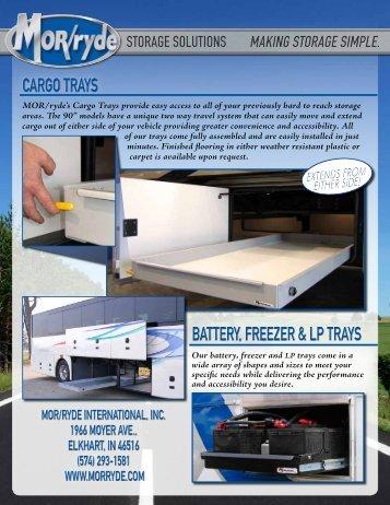 CARGO TRAYS BATTERY freezer & LP TRAYS