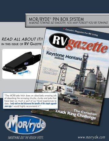 mor/ryde® pin box system mor/ryde® pin box system