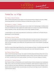 Fontane Tour als PDF - 5 Sterne Yachtcharter