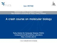 A crash course on molecular biology