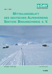 2009 - Deutscher Alpenverein Sektion Braunschweig e.V.
