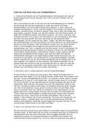 Intervista scritta per il sito dei giovani cattolici Olanda - Jong Katholiek