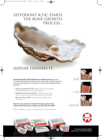 the bone growth process.. nature finishes it