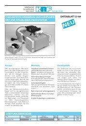 CHEMIEFESTE MEMBRAN-VAKUUMPUMPE MIT ... -  KNF Neuberger