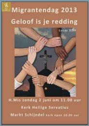 Migrantendag 2013 Geloof is je redding