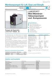 Mini-Membran- Vakuumpumpen und - KNF Neuberger