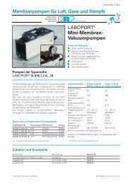 Membranpumpen für Luft, Gase und Dämpfe - KNF Neuberger