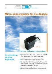 Micro-Membran-Vakuumpumpe NMS 020 L - KNF Neuberger