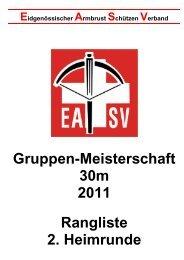 Rangliste / Vorrunde 2 - EASV