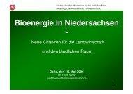Bioenergie in Niedersachsen -