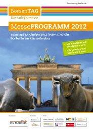 MessePROGRAMM 2012