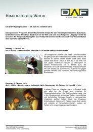 Die DAF-Highlights vom 7. bis zum 13. Oktober 2013 - Quadriga ...