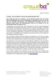 Berlin, 15.10.2013 Crowdbiz – Die neue Messe zu Gast auf dem ...