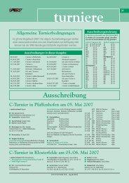 A/Q- und C-Turnier in Buttenheim am 18.-20. Mai 2007