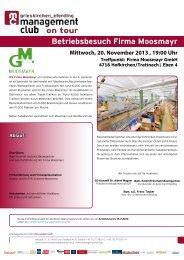 Betriebsbesuch Firma Moosmayr