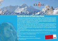 """""""Alte-Krone"""" - Urlaub in den Bergen vom 20. Dez ... - Hotel Alte Krone"""