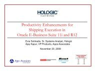 Oracle E-Business Suite 11i and R12