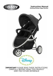Disney Smiling Mickey Edge Stroller Instructions - Obaby