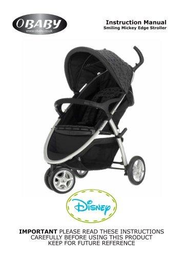 Disney Smiling Mickey Edge Stroller Instructions - Obaby