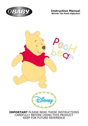 Disney Winnie The Pooh Highchair Instructions - Obaby