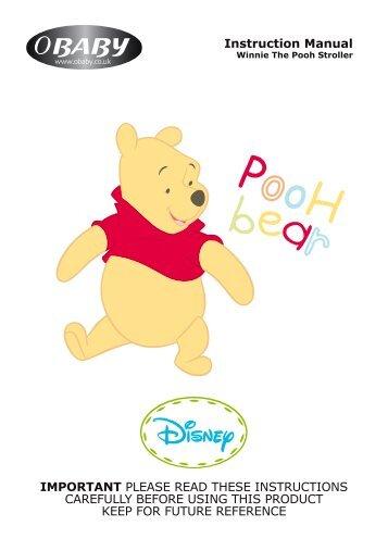 Disney Winnie The Pooh Stroller Instructions - Obaby