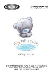 Tiny Tatty Teddy Travel Cot Instructions - Obaby
