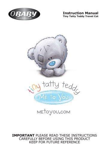 Tiny Tatty Teddy Travel Cot Instructions - Obaby