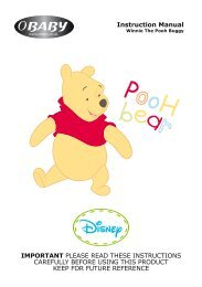 Disney Winnie The Pooh Buggy Instructions - Obaby